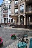 Stara ulica, dziejowy centrum, uliczna kawiarnia Obraz Stock