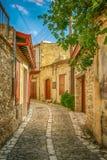 Stara ulica Lefkara, Cypr zdjęcie royalty free