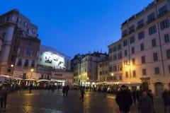 Stara ulica Rome przy nocą Obrazy Royalty Free