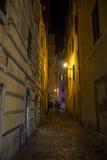 Stara ulica Rome przy nocą Obrazy Stock