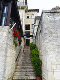 Stara ulica, San Marino Obraz Royalty Free