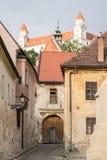 Stara ulica w Bratislava obrazy stock