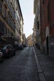 Stara ulica w centrum Rzym Obraz Royalty Free