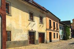 Stara ulica w Cesky Krumlov Dziejowy centrum miasto w 1992 spisuje jako UNESCO światowego dziedzictwa miejsce cesky krumlov repub Zdjęcie Royalty Free
