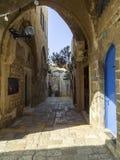 Stara ulica w historycznym Jaffa, Izrael Obrazy Stock