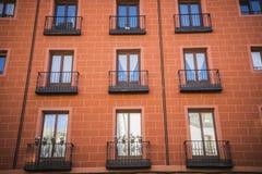 Stara ulica w kapitale Hiszpania miasto Madryt, swój a Fotografia Stock
