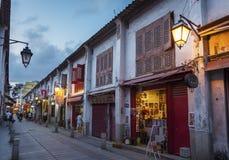 Stara ulica w Macau, Chiny Obraz Royalty Free