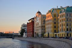 Stara ulica w Moskwa zdjęcia stock