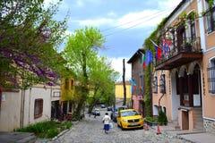 Stara ulica w Plovdiv Starym miasteczku zdjęcie royalty free