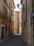 Stara ulica w Rzym, Włochy Obrazy Stock