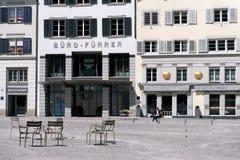 Stara ulica Zurich, Szwajcaria Zdjęcia Royalty Free
