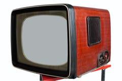 stara ustalona telewizja Zdjęcia Royalty Free