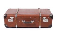 Stara walizka odizolowywająca na białym tle obrazy royalty free