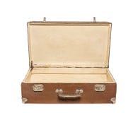 stara walizka otwarta zdjęcia stock