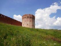 Stara warowna ściana na wzgórzu Zdjęcia Stock