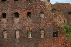 Stara więzienie ściana Zdjęcia Royalty Free