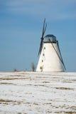 Stara wiatraczek zimy scena Obraz Stock