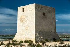 Stara wieża obserwacyjna w Hiszpania Obrazy Stock