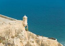 Stara wieża obserwacyjna w Santa Barbara kasztelu Fotografia Royalty Free