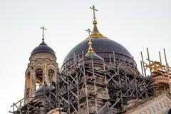Stara wierzący katedra ochrona Święta dziewica w Borovsk, Rosja fotografia royalty free