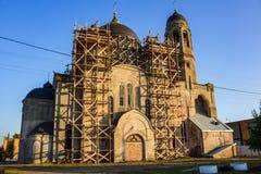 Stara wierzący katedra ochrona Święta dziewica w Borovsk, Rosja zdjęcia stock
