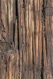 Stara Wietrzejąca Krakingowa Drewniana Crosstie powierzchni tekstura - szczegół Obrazy Royalty Free