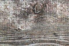 Stara Wietrzejąca Krakingowa Szorstka Textured deska Z kępkami Zdjęcie Royalty Free