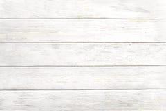 Stara wietrzej?ca drewniana deska malowa? w bia?ym kolorze fotografia stock