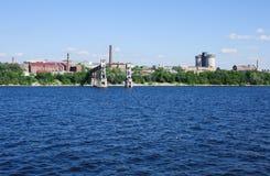 Stara winda na Volga rzece w Samara Zdjęcia Stock