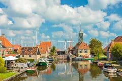Stara wioska Hindeloopen holandie fotografia royalty free