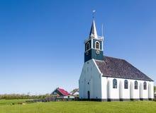 Stara wioska kościelny Oudeschild na Texel wyspie w holandiach Fotografia Stock