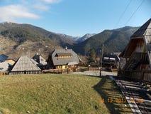 STARA wioska SERBIA, MOKRA GORA obraz royalty free