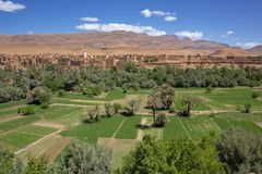 Stara wioska w atlant górach, Maroko obrazy royalty free