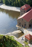 Stara wodna elektrownia Zdjęcia Stock