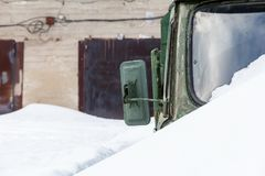 Stara wojsko samochodu zieleń obraz royalty free