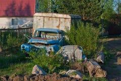 Stara wykolejeniec ciężarówka Zdjęcia Stock