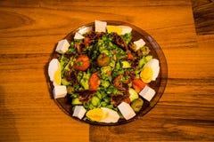 Stara Zagora, Bułgaria, wiosny warzywa sałatka zdjęcie stock