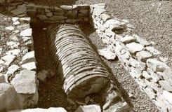 Stara Zagora, Bulgarien - antikt forum Augusta Trayana arkivfoto