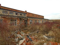 Stara zaniechana fabryka od komunistycznych czasów Fotografia Stock