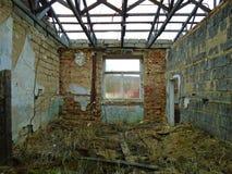Stara zaniechana fabryka od komunistycznych czasów Zdjęcie Royalty Free