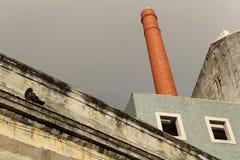 Stara zaniechana fabryka w Lisbon Obraz Stock