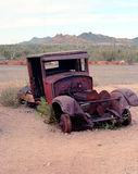 Stara zaniechana furgonetka Fotografia Royalty Free