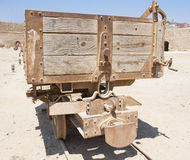 Stara zaniechana kopalnianej kolei ciężarówka Fotografia Stock