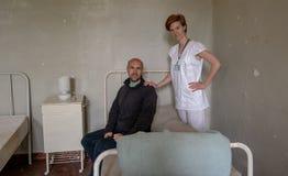 Stara zaniechana psychiatryczna klinika dla chorych ludzi umys?owo - Powie i pomoc choroba zdjęcie royalty free