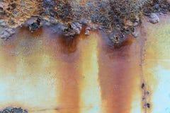 stara zardzewiała struktura metalowa Szczegółu zamknięty up Zdjęcia Royalty Free