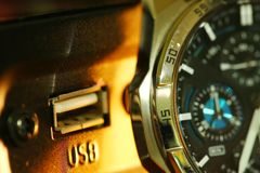 Stara zegarek scena Zdjęcia Royalty Free