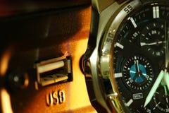 Stara zegarek scena Obraz Stock