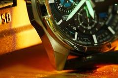 Stara zegarek scena Zdjęcia Stock