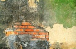 Stara zewnętrzna ściana zaniechana fabryka Zdjęcie Royalty Free