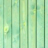 Stara zielona drewniana tekstura z naturalnymi wzorami Obrazy Stock